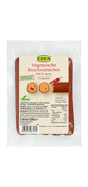 Eden - Vegetarische Knackwürstchen hot & spicy
